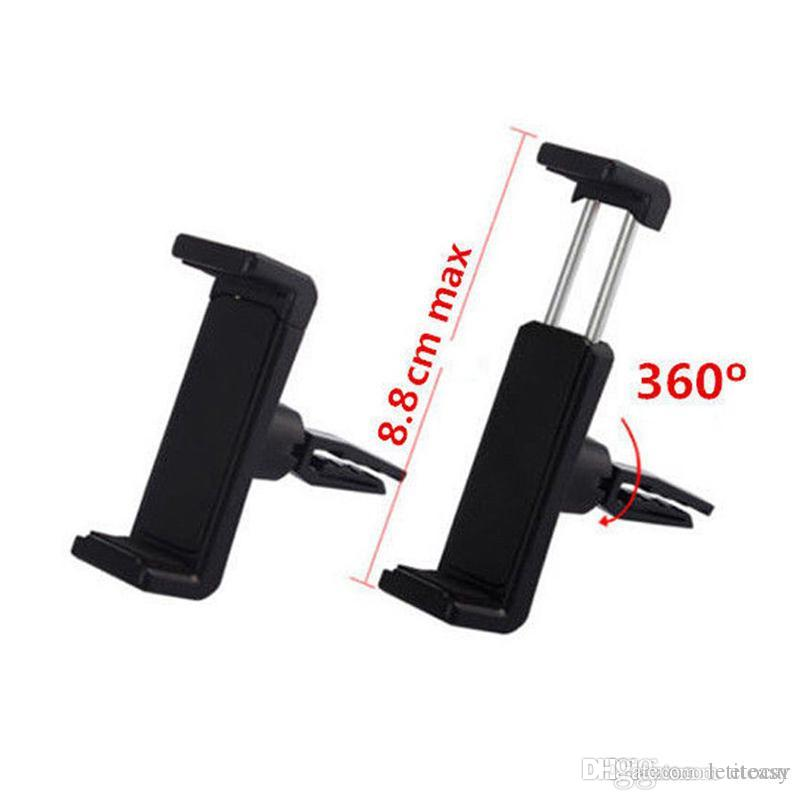 Universal Mobile Phone 360 Rotating In Car Air Vent Mount Holder Cradle Stand UK TH0254