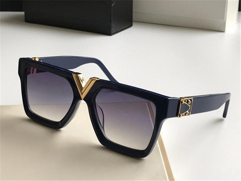 2371 فاخر شرح نظارات ريترو خمر الرجل مصمم النظارات لامعة الذهب الصيف نمط الليزر شعار مطلية بالذهب أعلى جودة