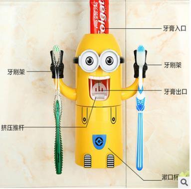 Distributeur automatique de dentifrice pour enfants Porte-brosses à dents Produits Accessoires de salle de bain Creative Squeezer Dentifrice