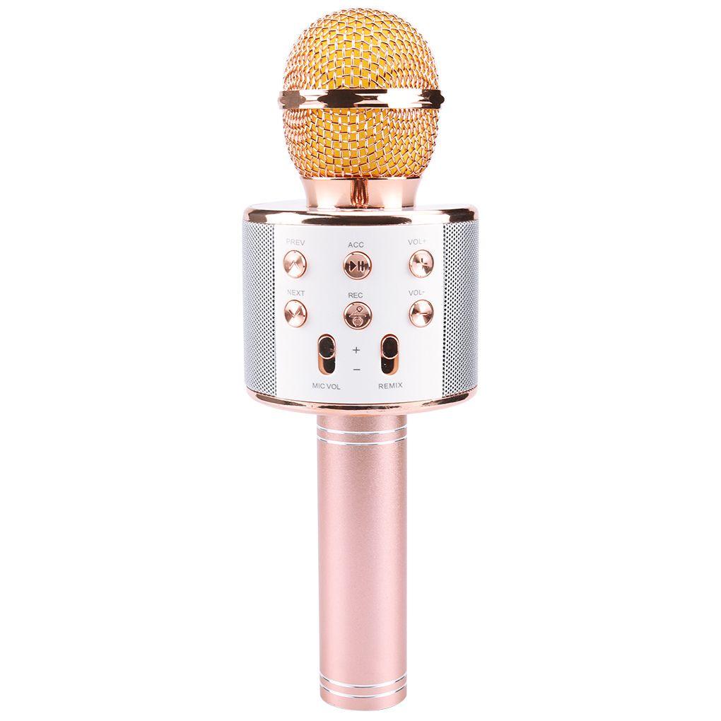 Nuevo WS858 Portátil Bluetooth Karaoke Micrófono Inalámbrico Profesional Altavoz Inicio KTV Micrófono de mano Mikrofon Studio Studio Studio