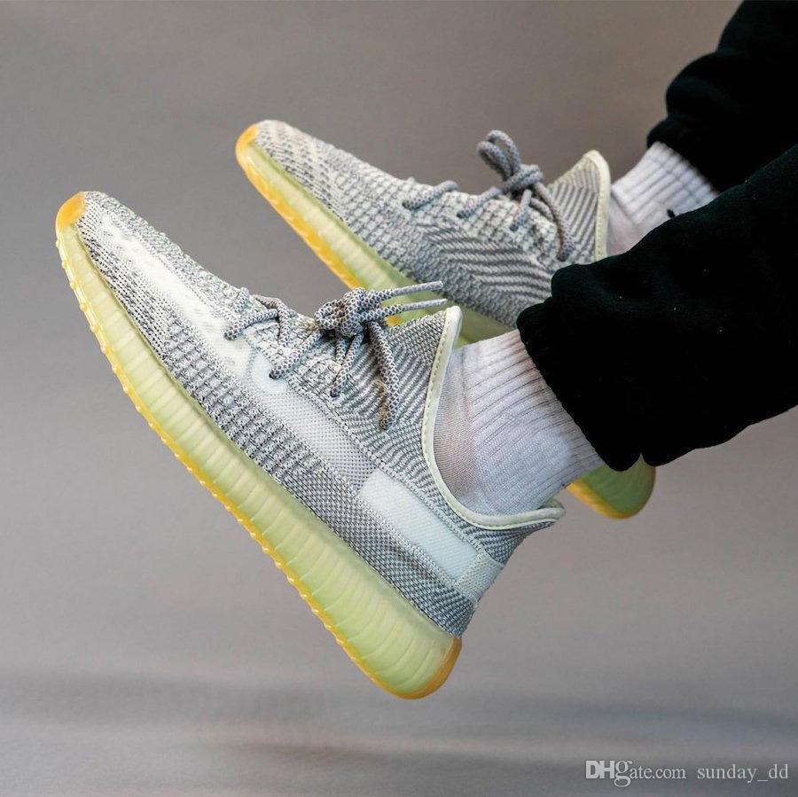 Yeni Kanye West V2 Yeshaya Desinger Man Beyaz Gri Yansıtıcı Primeknit Yeezreel Yecheil Erkekler Kadınlar Spor Sneakers FX4348 Koşu Ayakkabıları
