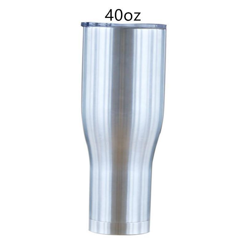 커피 뚜껑 40온스 곡선 텀블러 현대 커브 컵 곡선 물 잔을 두 번 벽으로 둘러싸인 스테인레스 스틸 병