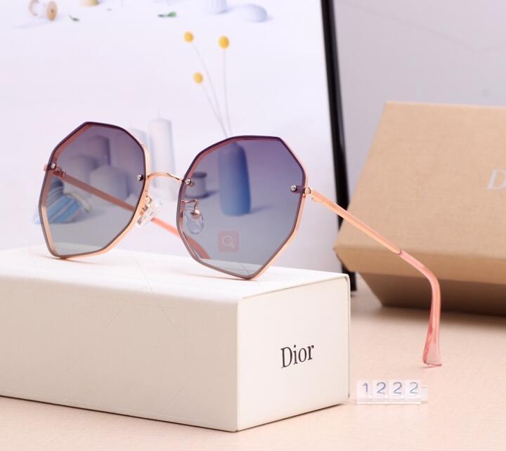 Brand Мужские солнцезащитные очки Круглые очки очки конструктора Золотой кадр стекла объектива женщин Солнцезащитные очки Марка Дизайнер ВС очки Круглые очки