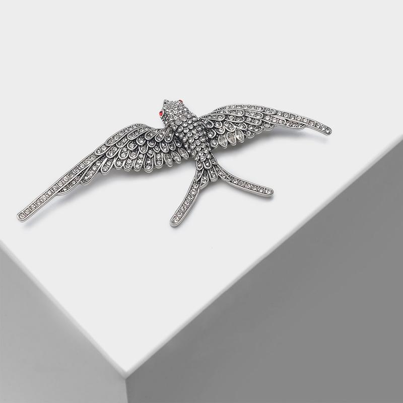Amorita boutique Flying swallow diseños animal pin cristal broche popular