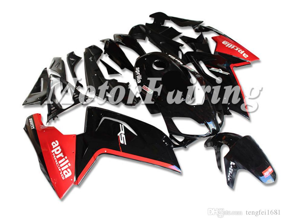 Nuovi ABS carenatura del motociclo Kit forma per Aprilia RS4 RSV125 RS125 2006 2007 2008 2009 2010 2011 Carrozzeria impostato personalizzata gratuita Rosso Nero