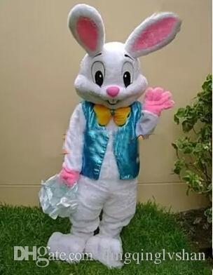 2019new Hot sale PROFESSIONAL EASTER BUNNY MASCOT COSTUME Bugs Rabbit Hare Adult Fancy Dress Cartoon Suit