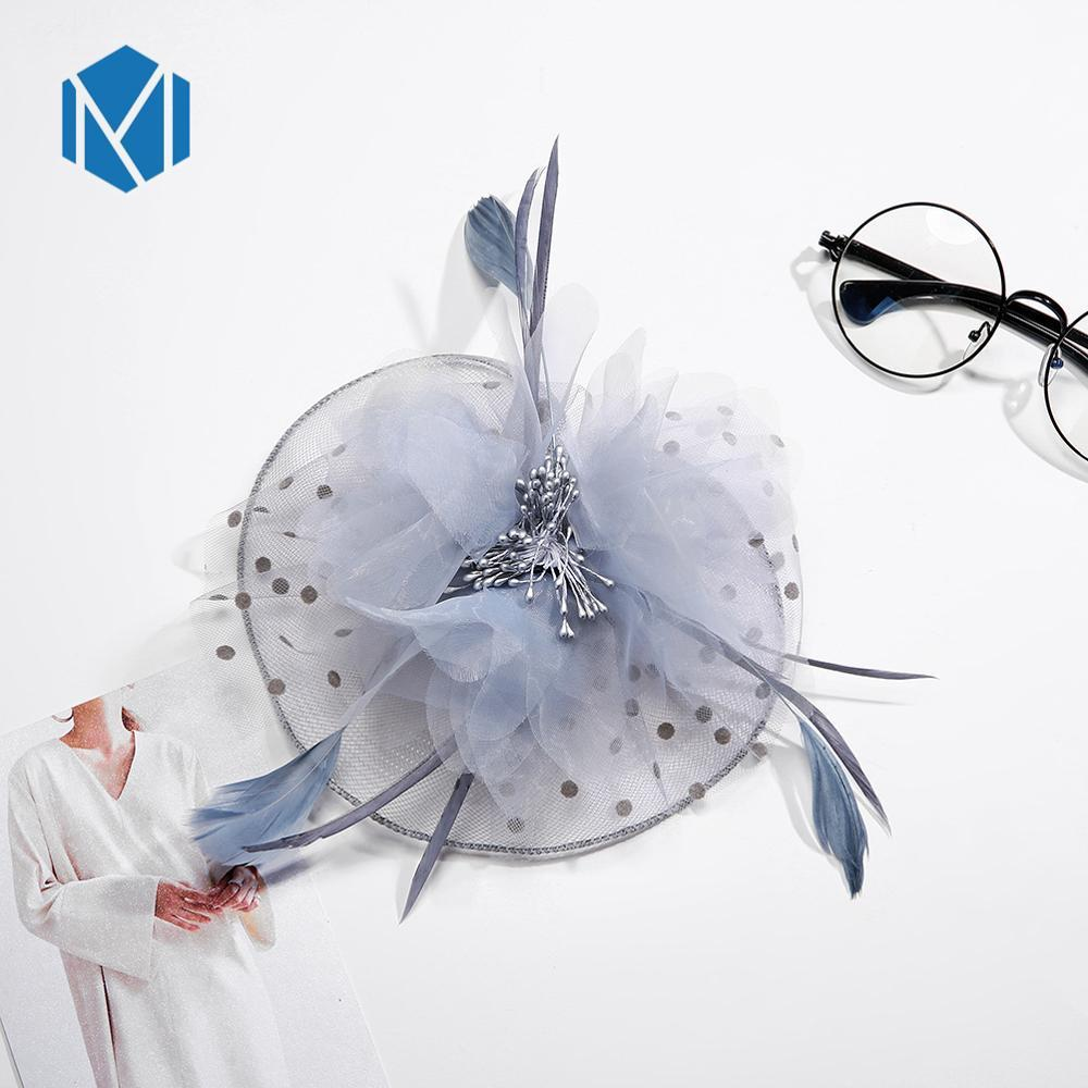 1PC 2019 New Women Vintage Elegant Wedding Fascinator Fishnet Mesh Veil Feature Hair Clip Tiara Party Hair Accssories