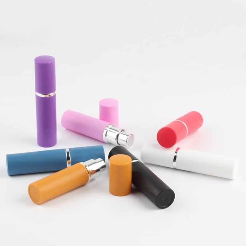 5ml 7color frasco de perfume vazio 5ml de alumínio anodizado Perfume compacto Atomizador de fragrância LX1029 perfume-frasco de vidro vazio