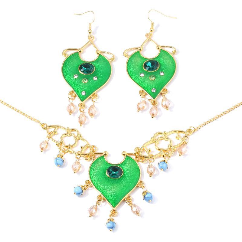 Мода ювелирные изделия Aladdin Косплей Смола Подвески Колье принцессы Жасмин ожерелье женщин день рождения подарок для женщин вентилятора подарка