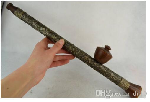 Heykel Bakır Pirinç zanaat Nadir eski el yapımı bronz çiçek dekorasyon sigara gereçlerinin