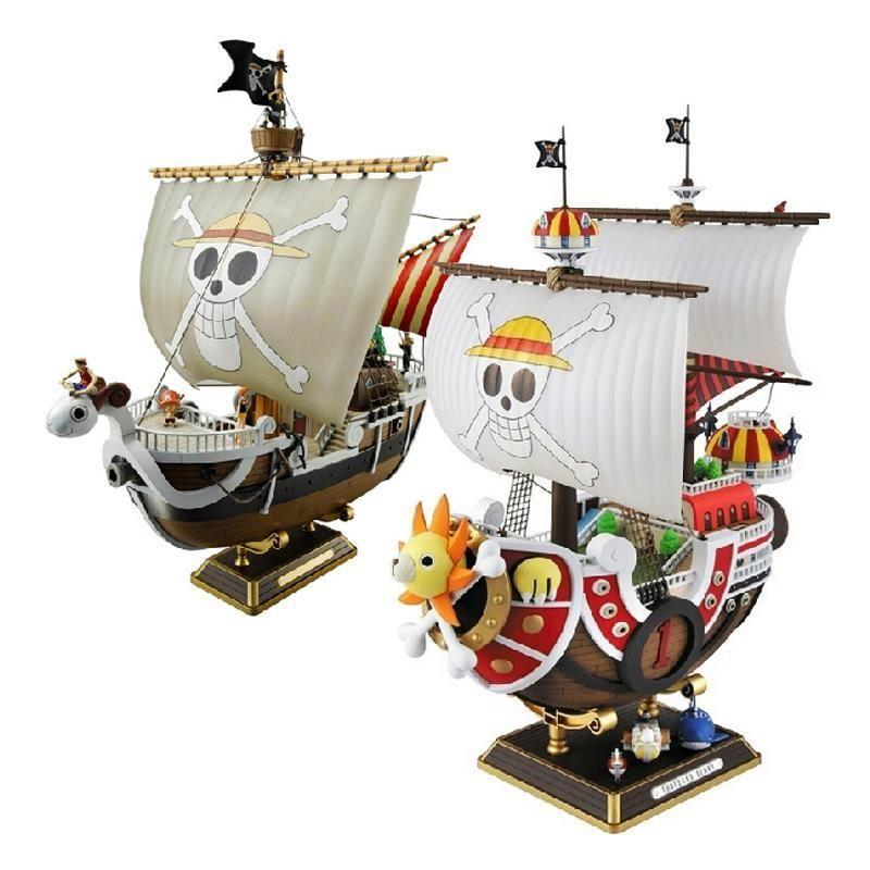 35 centimetri Anime One Piece Thousand Sunny Meryl azione barca Pirate Ship Figura PVC Figure Giocattoli da collezione Model Toy Gifts WX151 Y200421