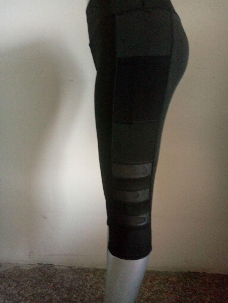 All'ingrosso-Nuovo Mesh Patchwork Capris elastici Pantaloni Yoga All'aperto traspirante Sport calzamaglia del corso pantaloni palestra rapida Dry nave di goccia