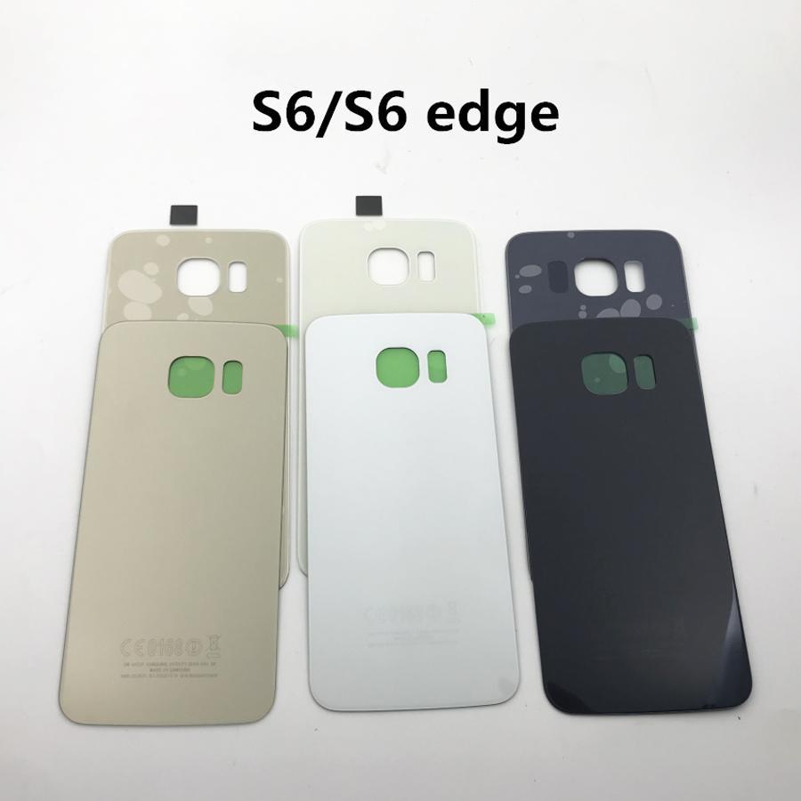 Yeni Pil Cam Arka Kapak İçin Samsung Galaxy G920 S6Edge G925 G928 Geri Kapı Pil Konut İçin S6 S6 Kenar Artı