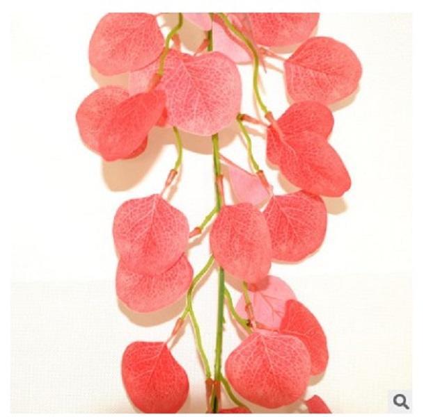 2020 vente chaude maison décoration florale simulation de plantes feuille de la plante verte fraîche fleur en plastique rotin feuille d'argent longue feuille de fleurs artificielles
