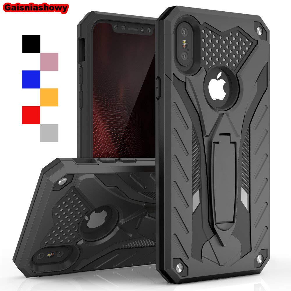 Cas Antichoc Pour Iphone 6 6s 7 8 5 5s Se Plus Kickstand Étui En Silicone De Qualité Militaire Pour Iphone X Xs Xr Max Couverture De Cas De Téléphone ...
