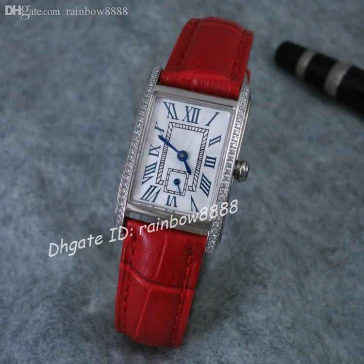 Diamante ultra sottile donna con diamanti al quarzo orologi da donna abiti da donna Cinturino in pelle vino rosso regali per le ragazze