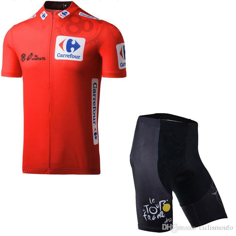 Newest Set TOUR DE FRANCE team Breathable Bicycle Garment Moisture-wicking Clothing Short Sleeves Cycling Shorts 60913