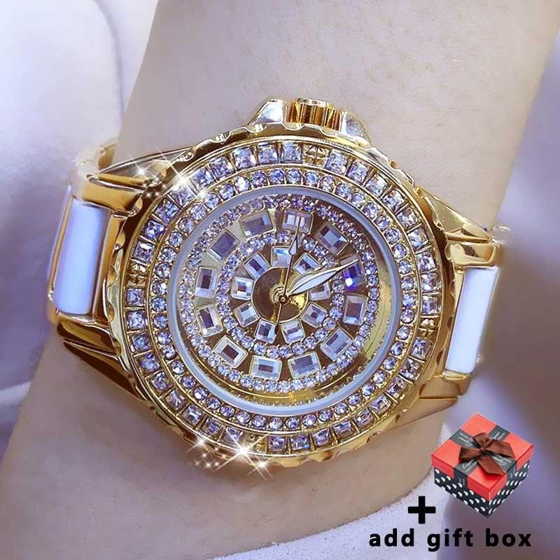 بكالوريوس السيراميك ووتش المرأة 2020 موضة الذهب أنثى ساعة اليد حجر الراين السيدات ساعات المعصم للحصول على هدايا