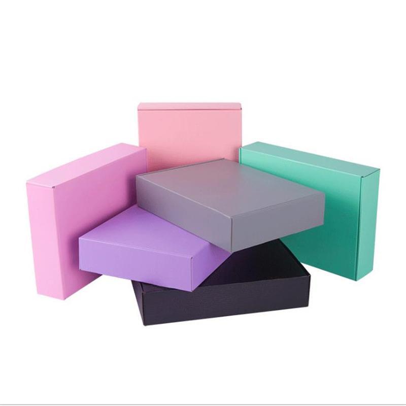 11 tamanhos colorido três camadas Supplies Super Paper rígido Box Expresso de embalagem caixa dobrado 10pcs Presente de casamento / lot