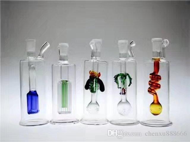 Разнообразие бутылки с мини-стеклом, оптом BONGS BOLLER PURENER Трубы водопроводные трубы Стеклянные трубы Масляные вышки для курения Бесплатная доставка