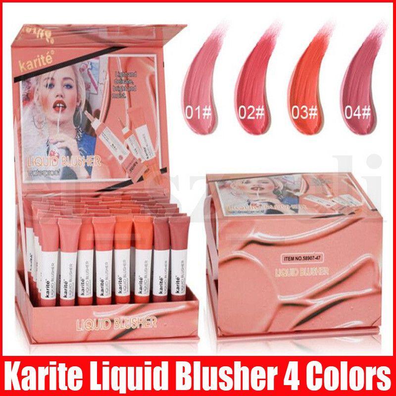 Karite Liquid Blush Cosmetics Blusher Gel Creamy Rouge Natural Beauty Face Make Cosmetic Long Lasting Liquid Blusher 4 Colors
