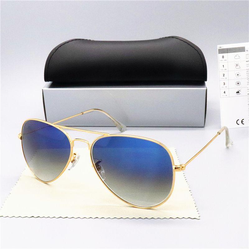 2020 جديد الاستقطاب النظارات الشمسية الرجال النساء نظارات الشمس التجريبية UV400 نظارات تصميم نظارات سائق نظارات شمس الإطار المعدني بولارويد عدسة