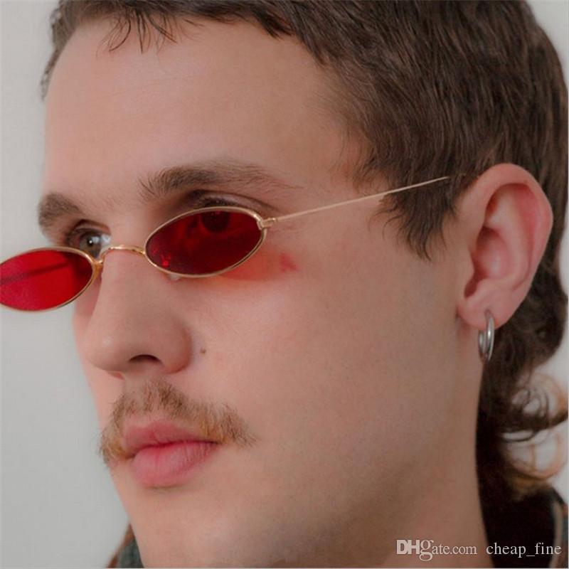 Kleine ovale Sonnenbrille Mode Mental Frame Vintage Designer Retro Runde Sonnenbrille für weibliche Männer