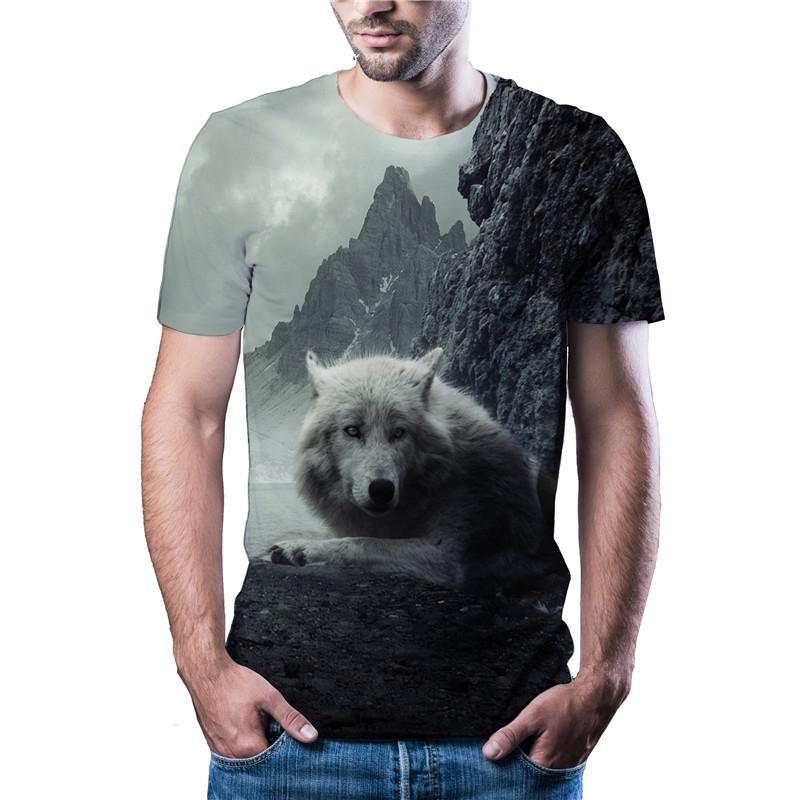 2020 последняя горячая распродажа волчья голова футболка повседневная спортивная футболка Harajuku Азиатский размер код цвет печатный 3dt рубашка