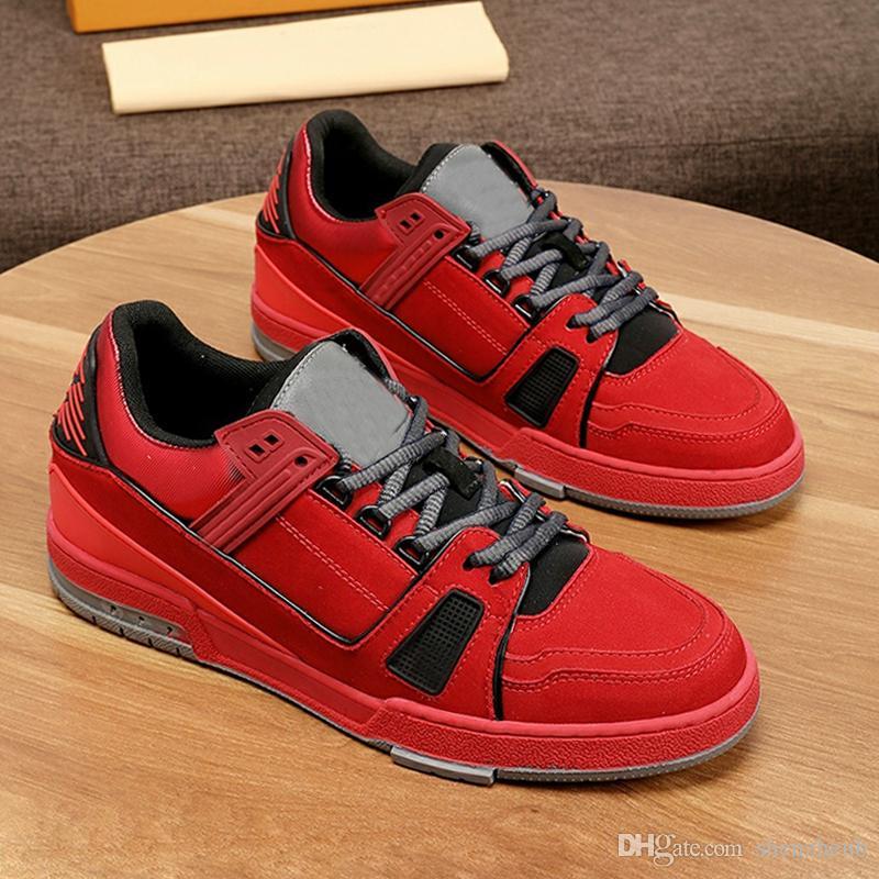 Louis Vuitton LV Breathable Trainer Sneaker Schuhe der Männer mit Origin Box Sports Design Fußbekleidungen Plus Size Lace-up-Mann-Schuhe Fashion Sneakers Wohnungen Platforms