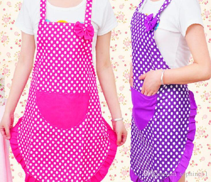 Grembiuli Da Cuoco Per Bambini.Acquista Bowknot Dot Grembiule Da Cucina Grembiule Da Cucina Bambini Baby Art Cucina Grembiule Craft Bib Rosa Viola A 56 29 Dal Sophine11