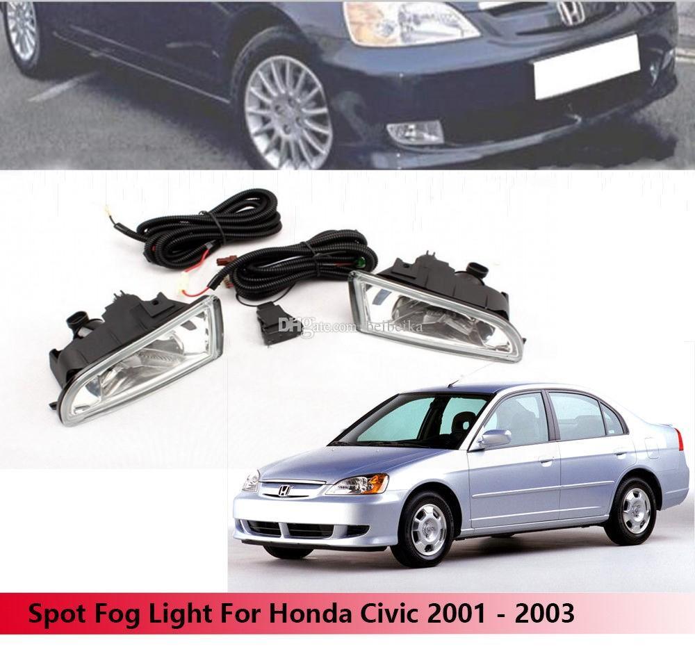 Автомобиль OEM Стиль Непосредственно Замена Противотуманные Фары Лампа ж / Лампа + Переключатель + Провод / 1 Компл. Для Honda Civic 2001 2002 2003 (Модель Азии)