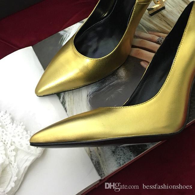 Дизайн женские буквы каблуки туфли на высоком каблуке сандалии 11 см высокие каблуки ну вечеринку белая лакированная кожа острым носом круглые женские платья свадебные туфли 35-42