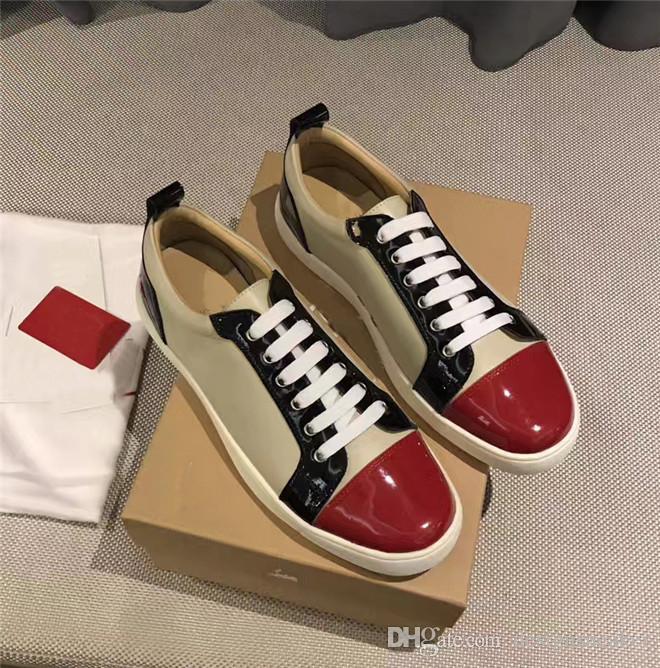 Mode-rote alleinige Männer Frauen der beiläufigen Spitzen Nieten Strass Schuhe Kleid-Partei Gehen Luxuxentwerfer flache Schuhe Sneakers Chaussures