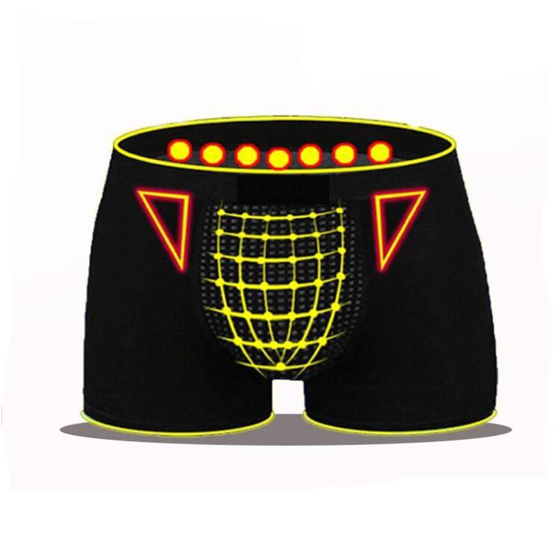 Homme de haute qualité Sous-vêtements Hommes Sexy Magnetic Therapy Boxer Shorts Sous-vêtements de soins de santé Respirant Casual Boxer Hommes Culotte