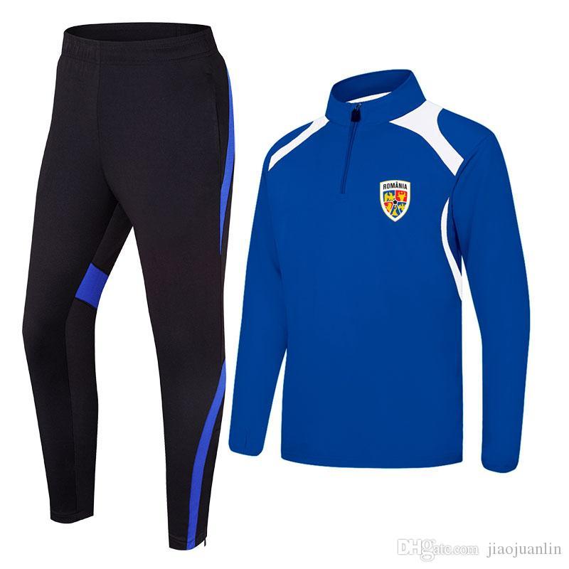 Румыния Ирландии 2020 весна и осень новая куртка футбольная тренировочная одежда долго может быть DIY custom мужская спортивная тренировочная одежда