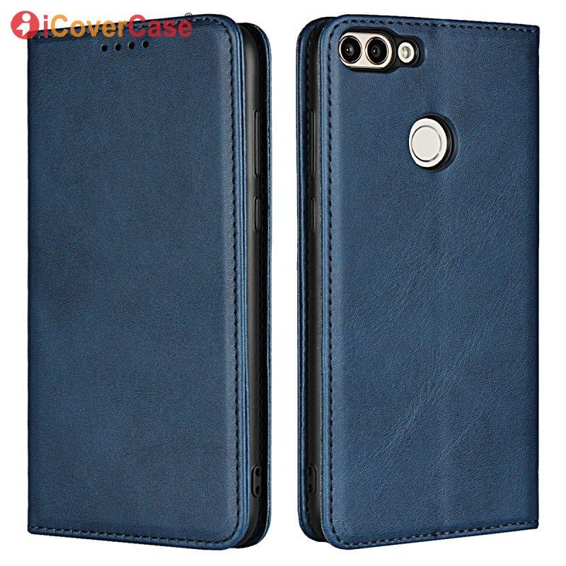 Leather Case For Huawei P Smart Magnetic Cover Wallet Flip Soft Silicone Inner Back Cover For Huawei P Smart Phone Bag Accessory