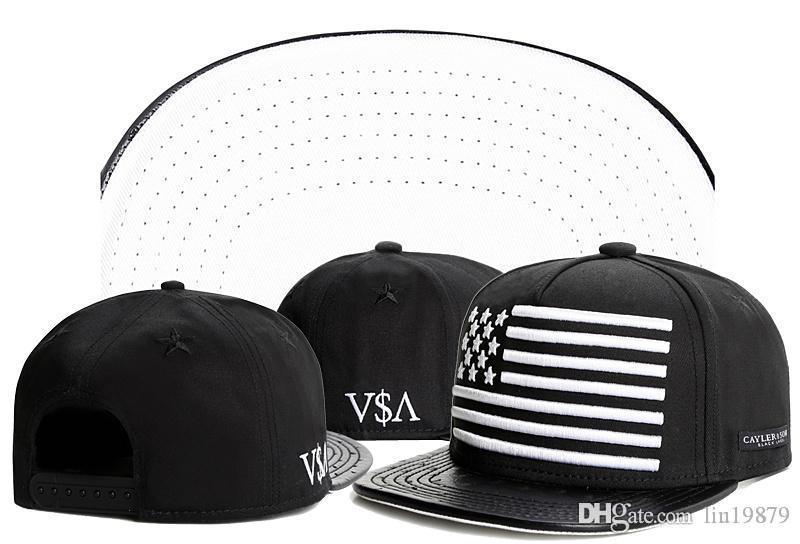 Cayler Sons ASA usa bayrak deri Beyzbol Caps ağzına 2020 Yaz Stili Casquettes chapeus hip hop Doğa Sporları İçin Erkekler Snapback Şapka
