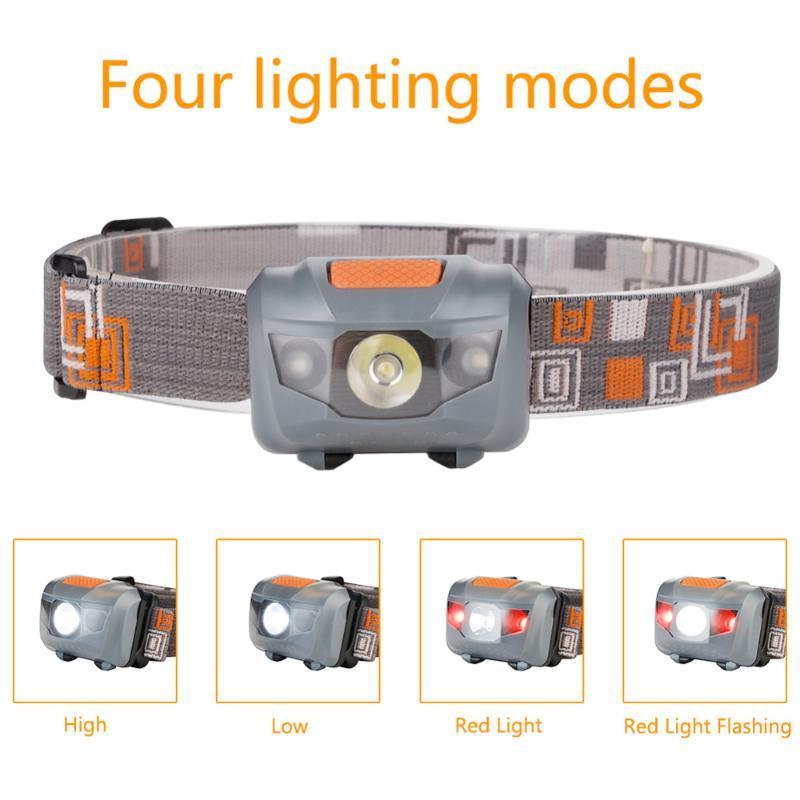 Hot sale R3 + 2LED 800 Lumens 4 Modes Mini Headlamp light Outdoor Headlight Waterproof Head Lamp Lantern For Hunting USE