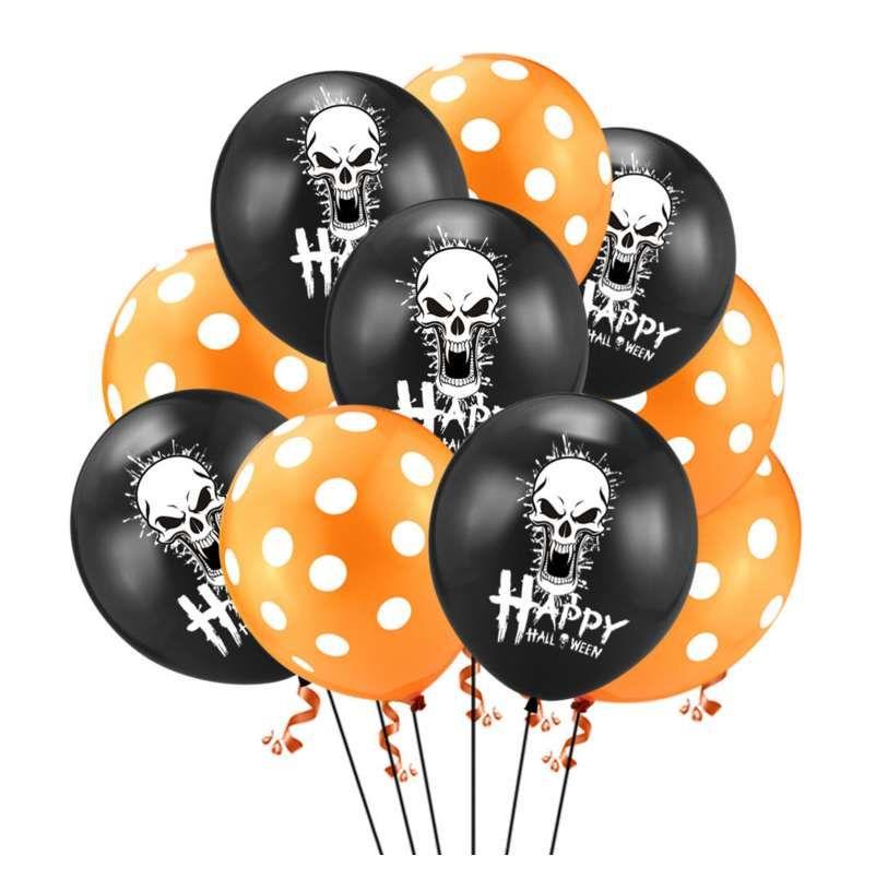 10pcs 12 polegadas Halloween Party balões de aniversário decorações balões Fotografia Moda Decoração Top Quality ar inflável Balls gratuito Sh