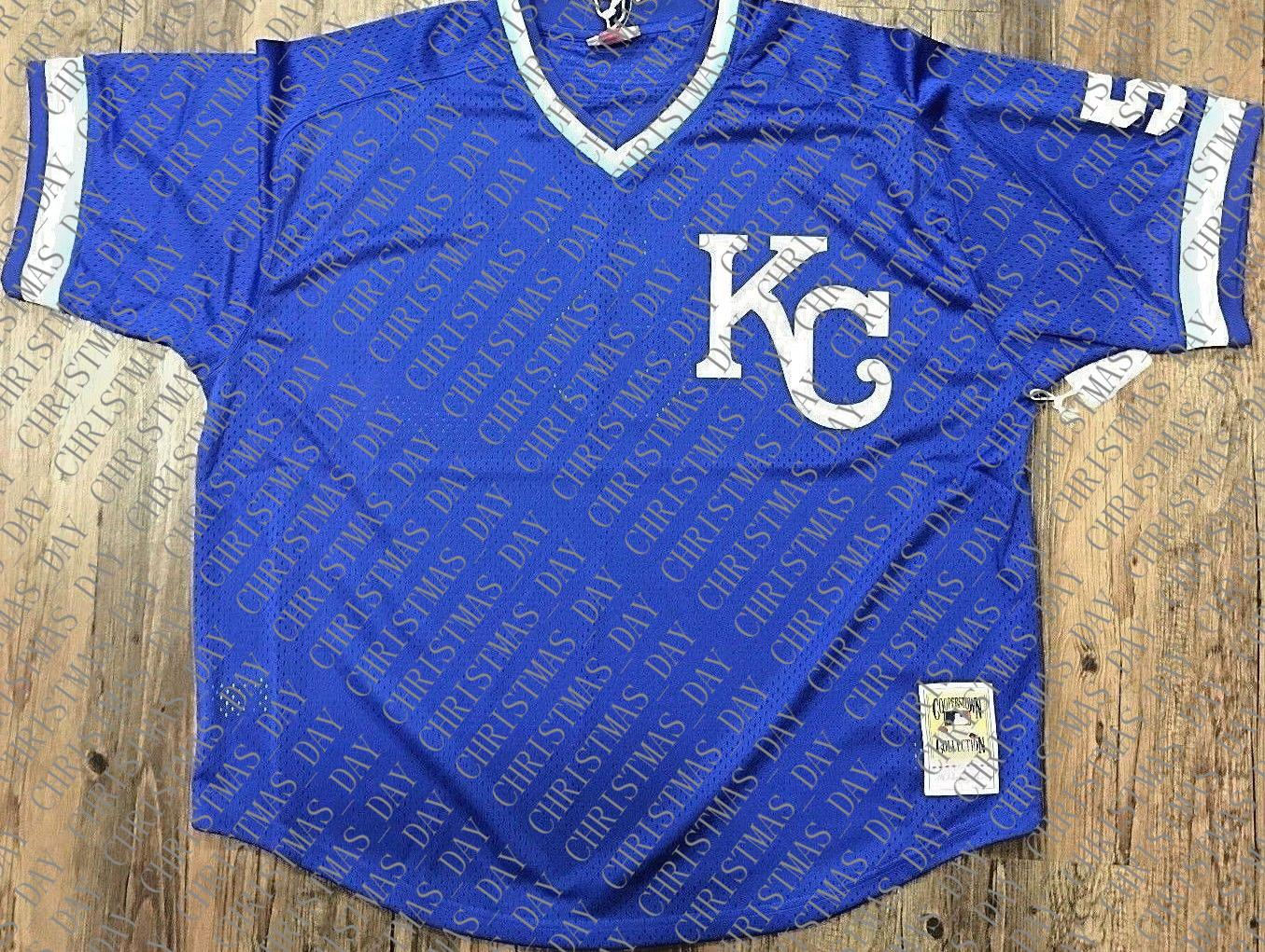 100% embroidery George Brett 1989 Mesh BP Jersey Stitched Customize any number name MEN XS-5XL NCAA JERSEY