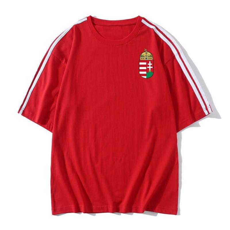 Hungary national team Soccer T-shirt Soccer Jerseys Short Sleeves T-shirt Loose men Soccer training jerseys Football Shirt Fans Tops Tees