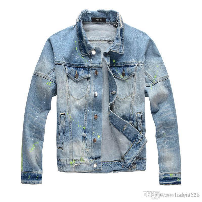 moda di lusso giacca designer uomini Balman Amir Medusa uomo e design hip hop delle donne unisex Giacca di jeans 4