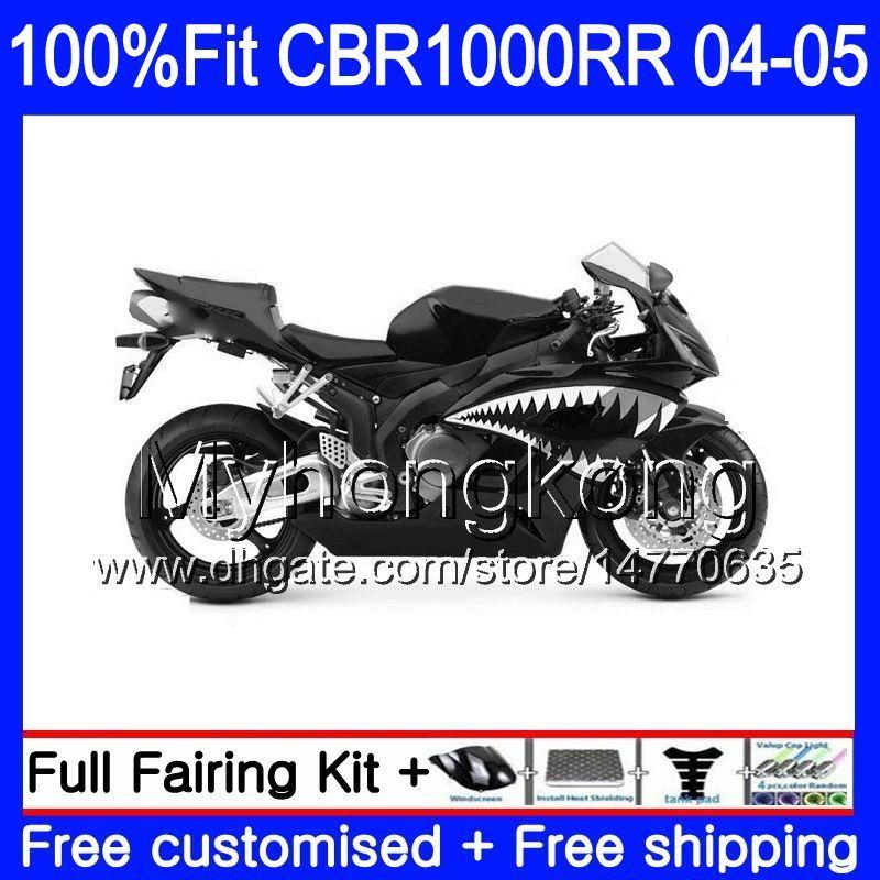 Injectie Body + Tank voor Honda CBR 1000RR CBR1000 RR 04-05 275HM.0 CBR1000RR 04 05 CBR 1000 RR 2004 2005 OEM FACEERS KIT GLOSSY HAARK FISH