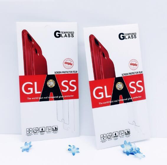 Scatole per imballaggio al dettaglio a colori Imballaggio per protezione dello schermo in vetro temperato Premium per iPhone XR XS Max X 8 Plus Samsung S6