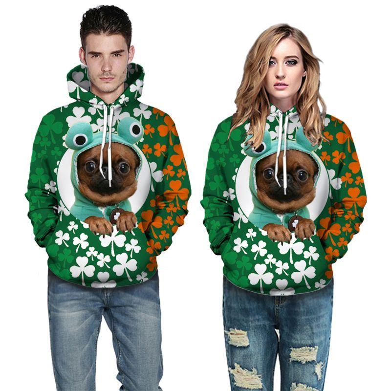 Nuovo con cappuccio Felpe con cappuccio stampa 3D uomini giacca e QZ166 donne maglione