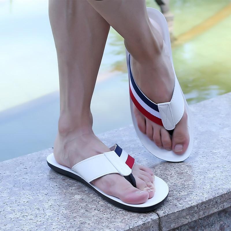 Hot Sale-men slippers fashionable men flip flops antiskid summer beach slippers casual outdoor flip flops for man flat heel scuffs zy314