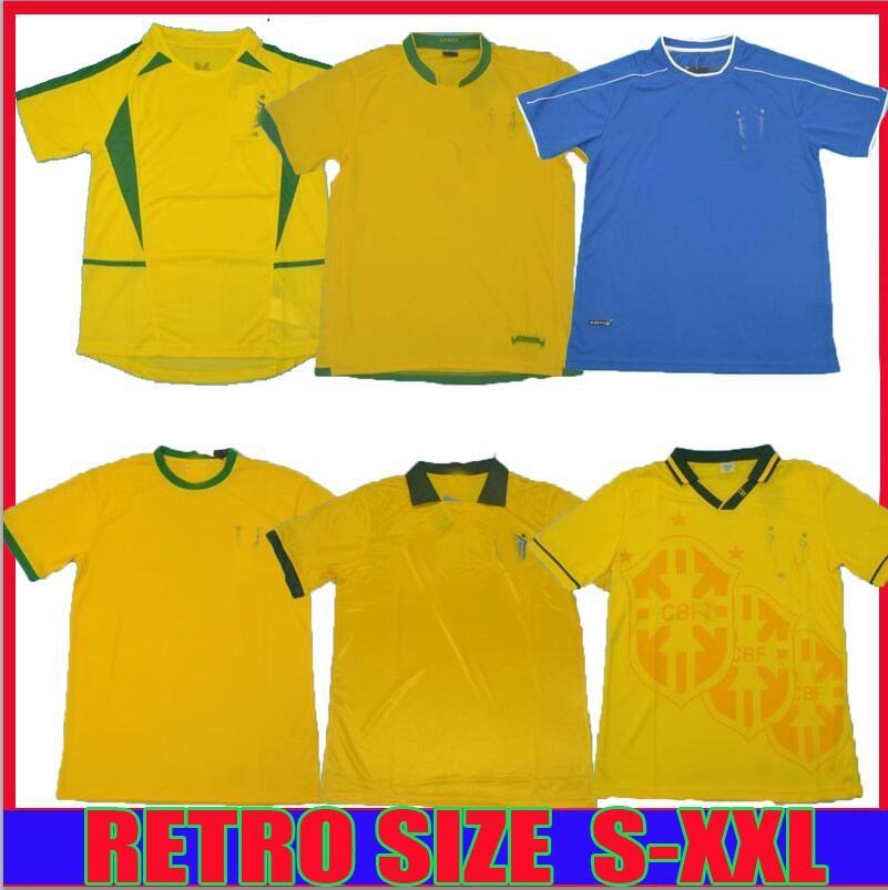1957 1994 1970 축구 유니폼 Rivaldo 1988 1998 빈티지 클래식 레트로 Romario Ronaldinho 2002 Camisa de Futebol 축구 셔츠