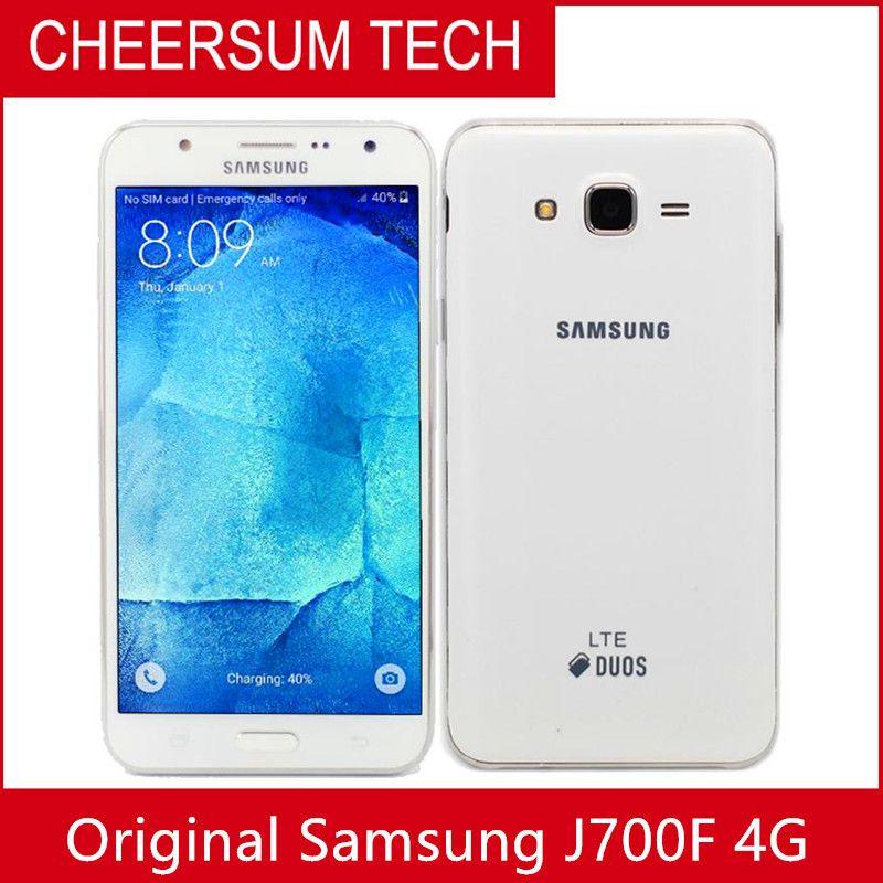 D'origine Samsung Galaxy J7 5,5 pouces 13MP Ram 1.5GB Rom 16 Go Dual Sim débloqué téléphone portable remis à neuf