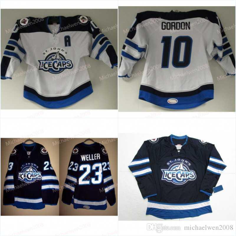 Hombres St JohnsIce Gorras Jersey 10 Gordon 29 Patrik Laine 26 Blake Wheeler 55 Mark Scheifele 9 Kane Hockey Jerseys
