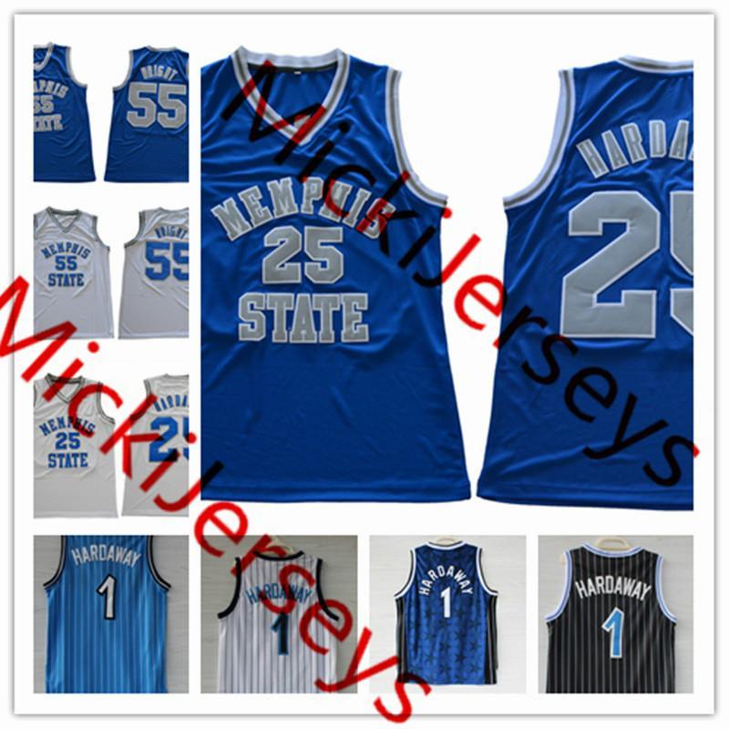 Мужские # 55 Лоренцен Райт Мемфис государство тигров баскетбол трикотажные изделия сшитые # 25 Penny Cartaway Orlando Memphis State Tigers Jersey